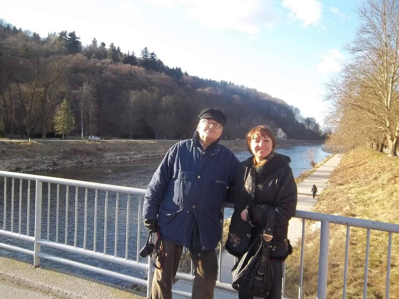 С Иво Петричем в Целье на реке Савинье.