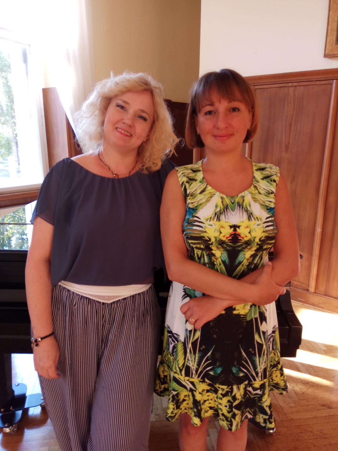 Александра Вербицкая и Анна Горбунова, редактор интернет газеты «Славянский бульвар», Словения, 2018 год.