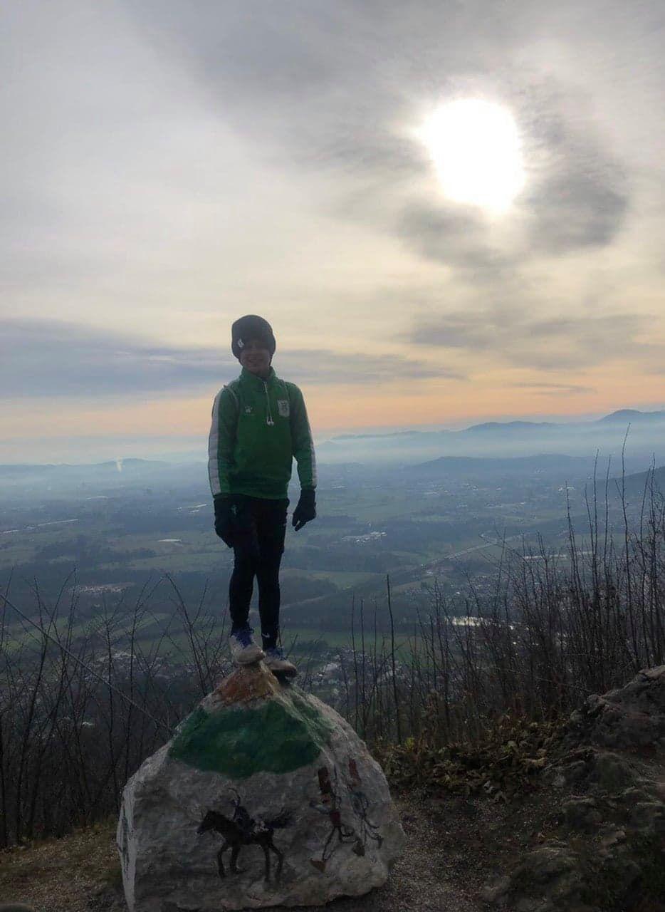 Не раз покорял словенские горы и делает это с большим удовольствием.